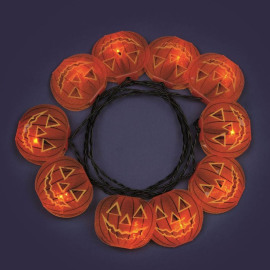 LED pumpkin fairy lights Halloween wtih glitter