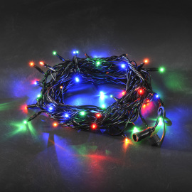 LED System 24 V - multi-coloured chain of lights, 50 LEDs