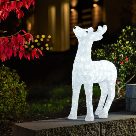 LED Acrylic Reindeer, 176 white LEDs