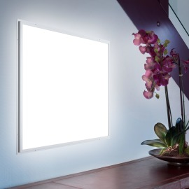 Ultraslim LED Panel Professional silver 60 x 60cm, warmwhite