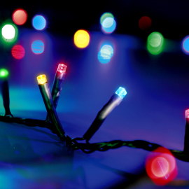 LED Chain of Lights, multi-coloured, 8 functions, 80 LEDs