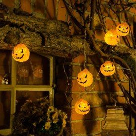 LED pumpkin fairy light
