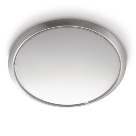 Philips myLiving plafonnier Circle acier brossé