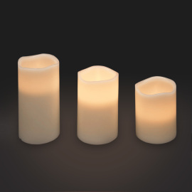 Lotti LED wax candle set of 3, remote
