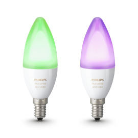 Philips Hue White and Color Ambiance LED E14 Doppelpack RGBW 6,5W