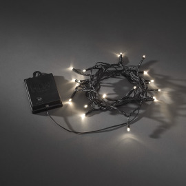 LED Chain of Lights with Timer, warmwhite, 20 LEDs