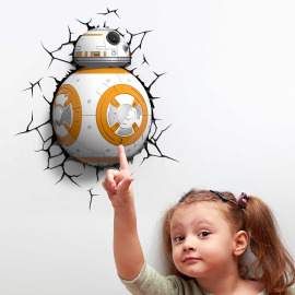 3D Lampe murale Star Wars BB8