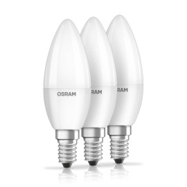 Osram LED BASE CLB40 5,3W 827 FR E14 3er-Pack