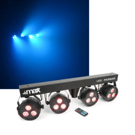 Max LED PARBAR 4Way Kit 3x 4in1 RGBW light set