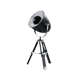 Lumego Acamar Tripod Table Lamp, E27, black-silver