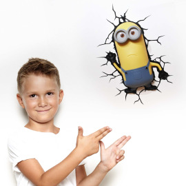 3D Lampe murale Minions Kevin