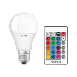 Osram LED STAR+ CL A RGBW E27 60 9W remote control 827