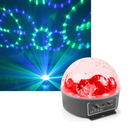 BeamZ Mini Star LED Ball Sound RGBWAP IRC6x3W