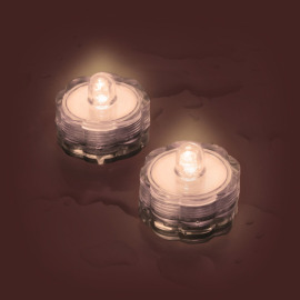 LED tea light Set of 2, waterproof, warmwhite