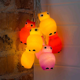 Decorative LED light set owls