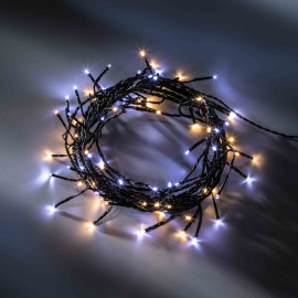 LED fairy light with eight functions memory controller, warmwhite and coldwhite, 6 m, 80 LEDs