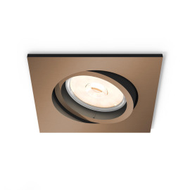 Philips myLiving LED spot Donegal square copper
