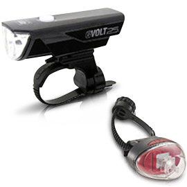 Cateye GVolt 25 RC Kit - HL-EL360GRC + TL-LD611G LED bike light set