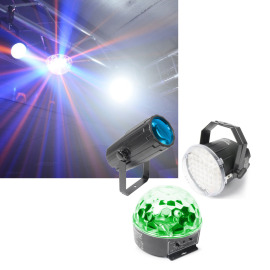 BeamZ Light Package 1. Moon,Strobe, Star LED light set