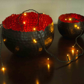 LED Chain of Lights amber, 6 m (50 LEDs)