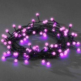 Chain of Lights, 80 round Diodes, pink
