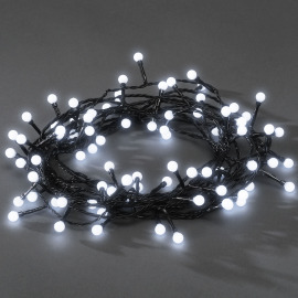 Chain of Lights, 80 round Diodes, white