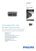 Data sheet Philips myGarden LED wall light Bustan anthracite with motion sensor