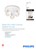 Spécifications Philips myLiving Star Spot 3-flammes blanc