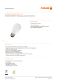 Data sheet Osram LED RETROFIT CLASSIC A 40 4W 827 E27 FR