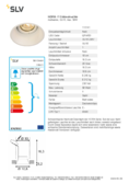 Spécifications SLV HORN-T GU10 Downlight blanc