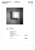 Data sheet Honsel wall light Tetra