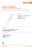 Spécifications Osram SubstiTube Advanced 21W 1500mm 840 HF T8