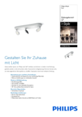 Data sheet Philips InStyle Scope ceiling light 3-flames