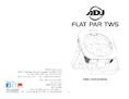 User instructions ADJ FLAT PAR TW5