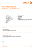Data sheet Osram PARATHOM ADV  PAR30 76 36° 8W 827 E27