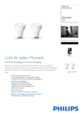 Hersteller Datenblatt Philips Hue LED GU10 White Ambience Duopack 5,5W