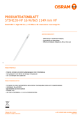Data sheet Osram SubstiTube Advanced HE 16W 1200mm 865 HF T5