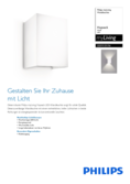 Spécifications Philips myLiving Hopsack lampe murale blanc