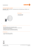 Spécifications Osram LED COLOR + WHITE Round 19W