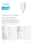 Data sheet Philips TrueForce LED HIL 48-33W E27 740 frosted