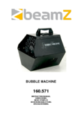 Manuel d'instructiones BeamZ B500 Bubble Machine Medium