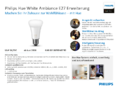 Data sheet Philips Hue LED E27 White Ambience Erweiterung 9,5W