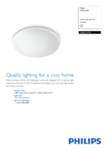 Spécifications Philips myLiving LED plafonnier Wawel blanc 35cm