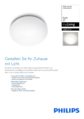 Data sheet Philips myLiving Suede ceiling light D38