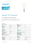 Data sheet Philips Classic LEDluster 4-40W E14 827 P45 klar