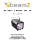 Manuel d'instructiones BeamZ Revo 9 Burst Pro 187 LED DMX