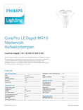 Data sheet Philips CoreProLEDspot 2.8-20W 827 GU5.3 MR16 36°