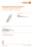 Data sheet Osram LED STAR  LINE 118  HS 100 non-dim  13W 827 R7S 118mm