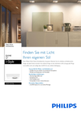 Data sheet Philips InStyle ceiling light Quine 1-flame
