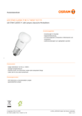 Spécifications Osram Star Classic LED E27 5.8W FR, blanc chaude
